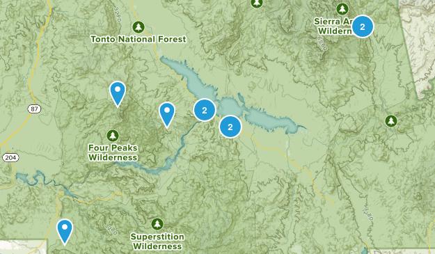Roosevelt, Arizona Hiking Map