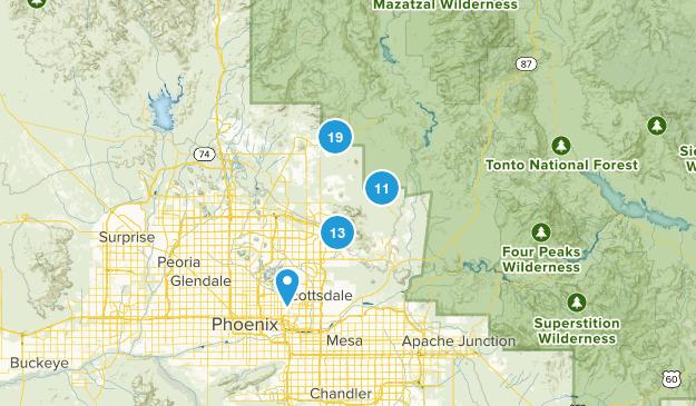 Scottsdale, Arizona Birding Map