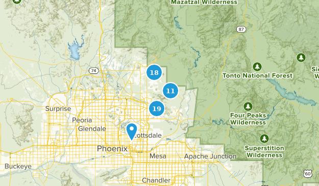 Scottsdale, Arizona Bird Watching Map