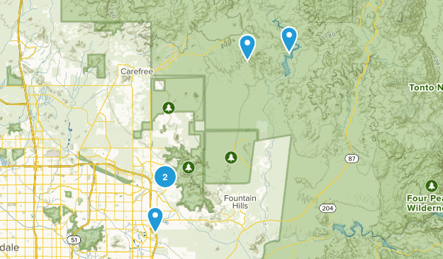 Scottsdale, Arizona Dog Friendly Map