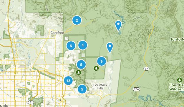 Scottsdale, Arizona Dogs On Leash Map