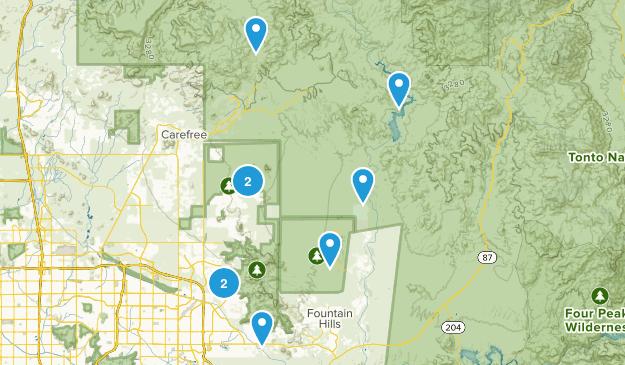 Scottsdale, Arizona Horseback Riding Map