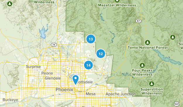 Scottsdale, Arizona Nature Trips Map