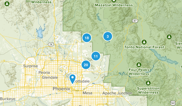 Scottsdale, Arizona Views Map