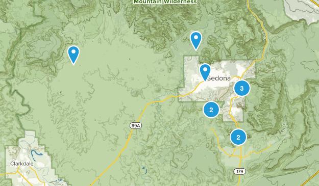 Sedona, Arizona Dog Friendly Map