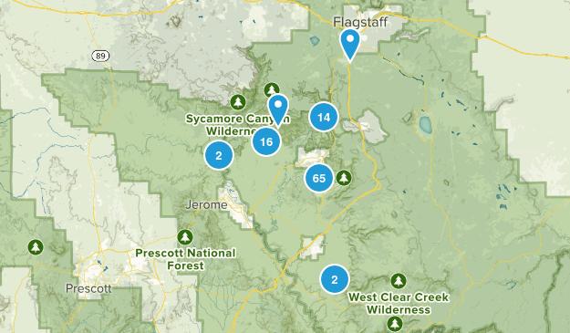 Sedona, Arizona Dogs On Leash Map