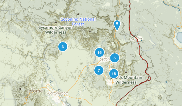 Sedona, Arizona Mountain Biking Map