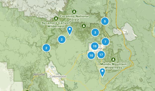 Sedona, Arizona Trail Running Map