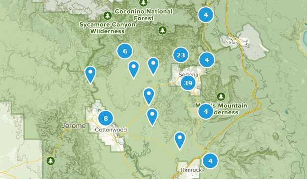 Map Of Arizona Including Sedona.Best Wildlife Trails Near Sedona Arizona Alltrails