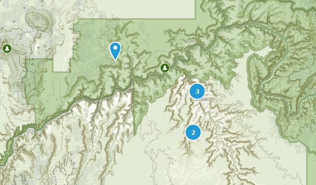 Supai, Arizona Hiking Map