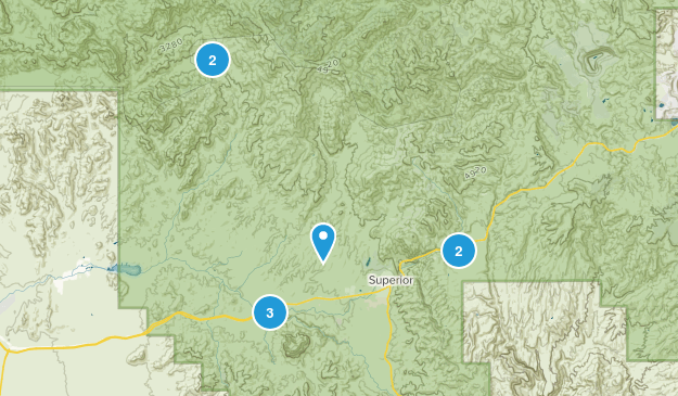 Superior, Arizona Hiking Map