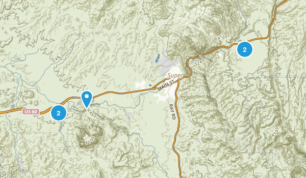 Superior, Arizona Trail Running Map