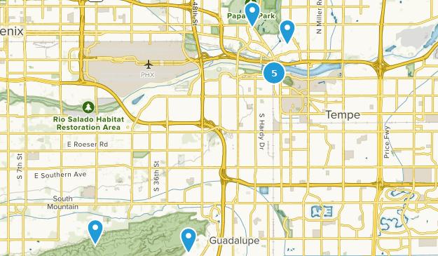 Tempe, Arizona Hiking Map
