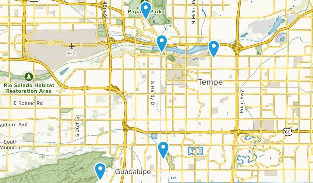 Tempe, Arizona Mountain Biking Map