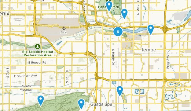 Tempe, Arizona Trail Running Map
