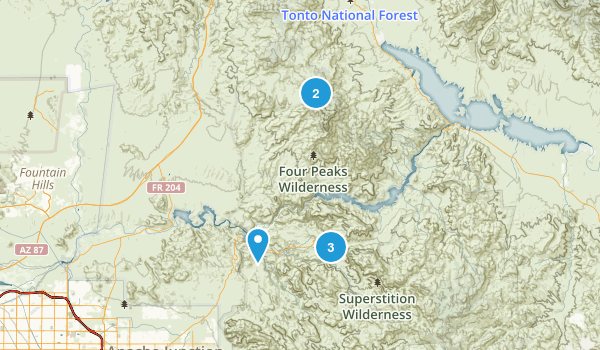 Tortilla Flat, Arizona Nature Trips Map