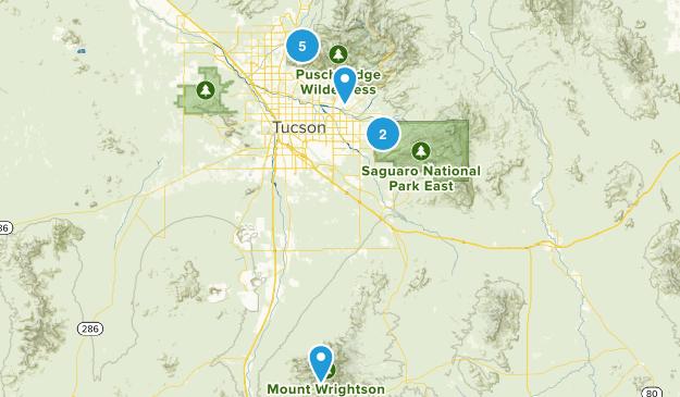 Tucson, Arizona Backpacking Map