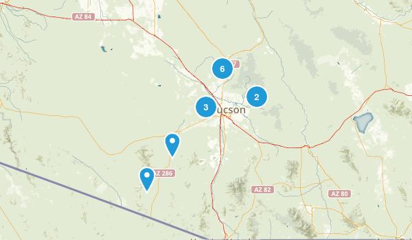 Tucson, Arizona Dog Friendly Map