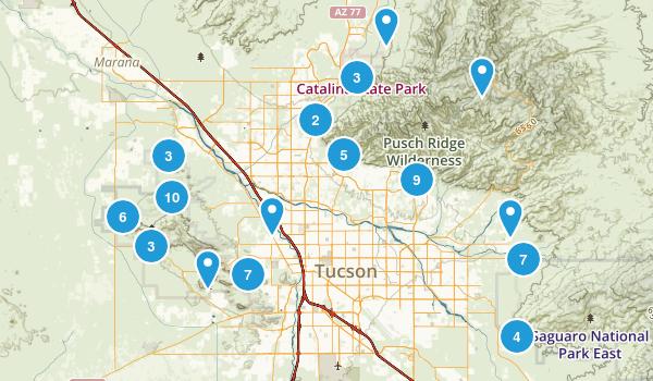 Tucson, Arizona No Dogs Map
