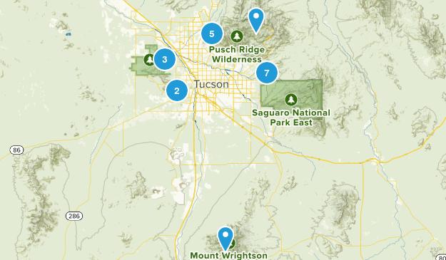 Tucson, Arizona Forest Map