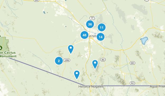 Tucson, Arizona Hiking Map