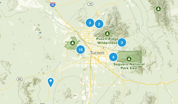 Tucson, Arizona Mountain Biking Map