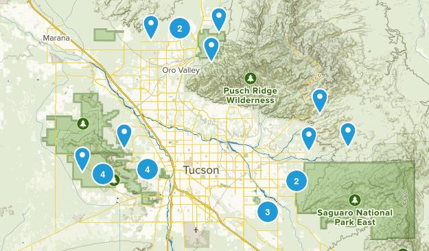 Tucson, Arizona Mountain Biking Map