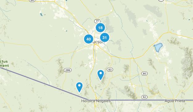 Tucson, Arizona Nature Trips Map