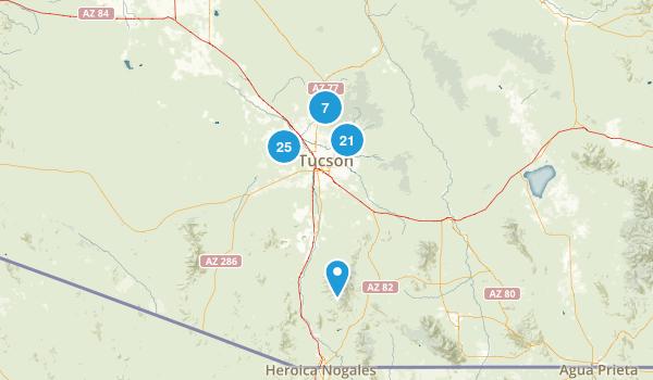 Tucson, Arizona Trail Running Map