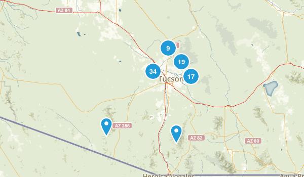 Tucson, Arizona Views Map
