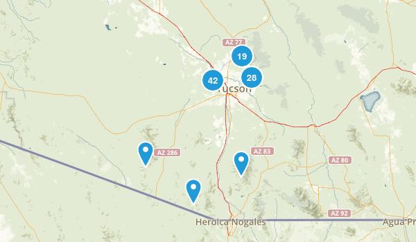 Tucson, Arizona Walking Map