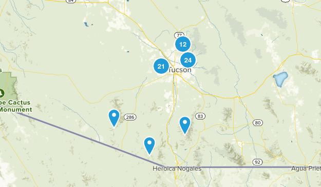 Tucson, Arizona Wildlife Map