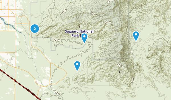 Vail, Arizona Hiking Map
