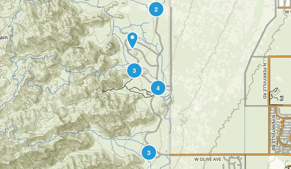 Waddell, Arizona Hiking Map