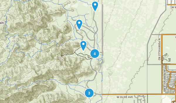 Waddell, Arizona Trail Running Map