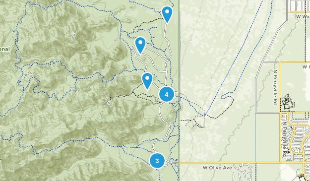 Waddell, Arizona Trail Running Map