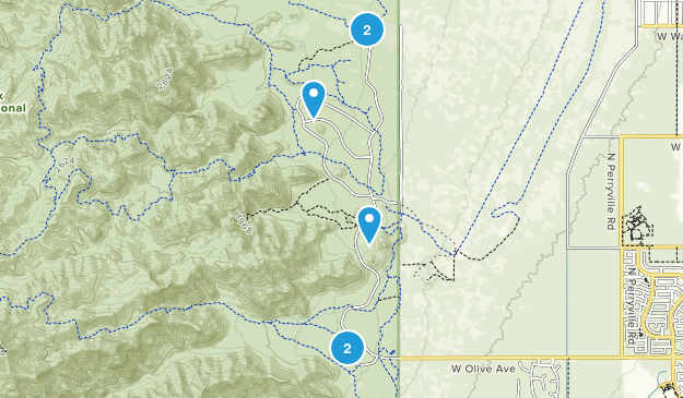 Waddell, Arizona Wild Flowers Map