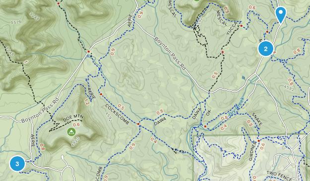 West Sedona, Arizona Mountain Biking Map