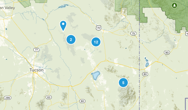 Willcox, Arizona Hiking Map