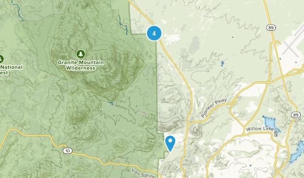 Williamson, Arizona Hiking Map