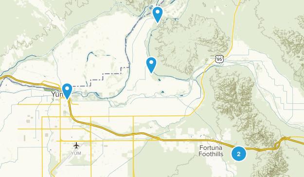 Yuma, Arizona Birding Map