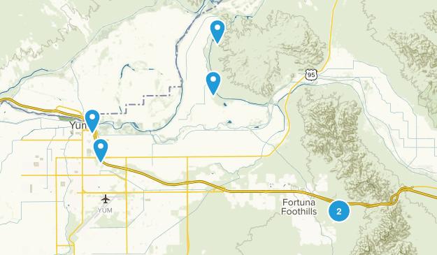Yuma, Arizona Dog Friendly Map