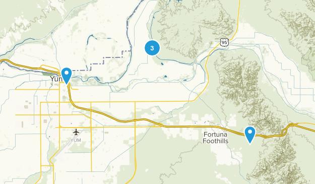 Yuma, Arizona Mountain Biking Map