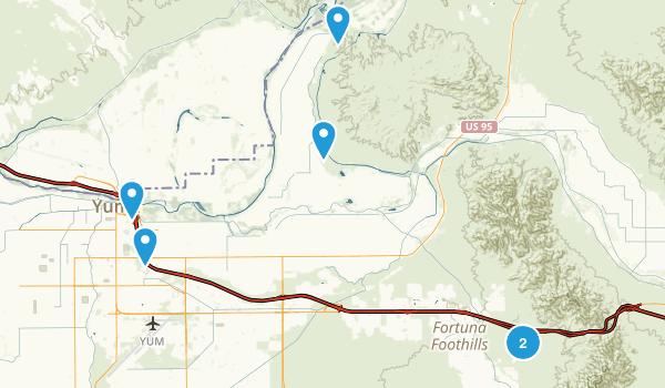 Yuma, Arizona Walking Map