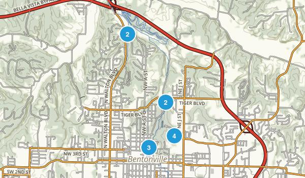 Bentonville, Arkansas Walking Map