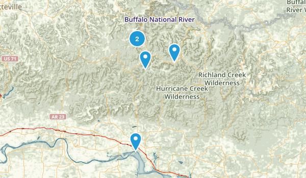 Deer, Arkansas Forest Map