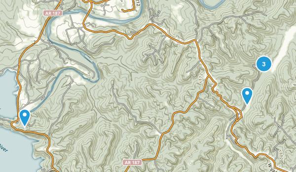 Eureka Springs, Arkansas Forest Map