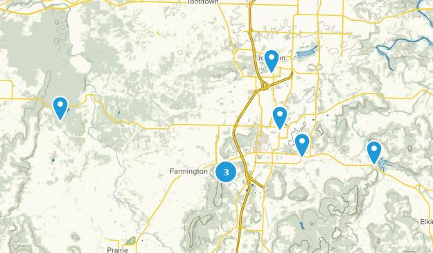 Fayetteville, Arkansas Forest Map