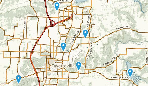 Fayetteville, Arkansas Trail Running Map