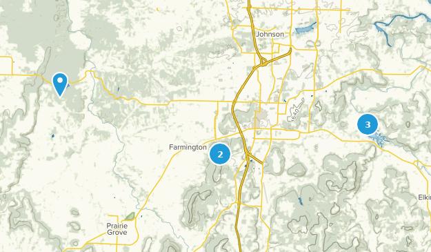 Fayetteville, Arkansas Views Map